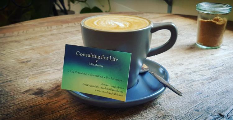 coffee and card